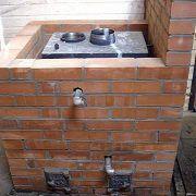 Как обложить железную печь в бане кирпичом