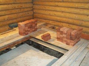 Залитая стяжка на бетонном фундаменте – ровное основание для дальнейшей кирпичной кладки
