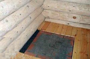 После выкладки основы деревянный пол подгоняется к ней, с оставлением небольшого зазора по периметру