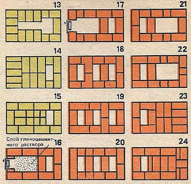 Продолжение схемы-порядовки – с 13 по 24 ряд