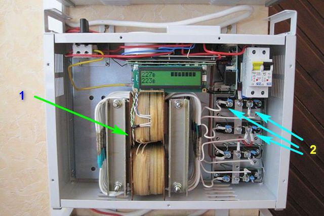 Устройство стабилизатора напряжения с полупроводниковыми ключами