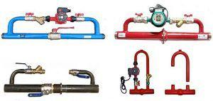 Подобные байпасные узлы для установки циркуляционного насоса можно найти в ассортименте специализированных магазинов.