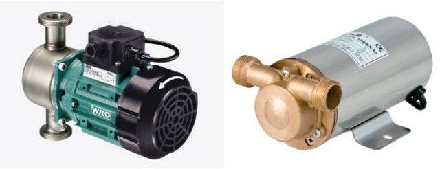 Примеры циркуляционных насосов с «сухим ротором»
