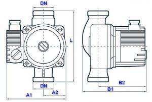 Характеристики, обычно выносимые на шильдик насоса: 1 – класс энергопотребления; 2 – предел температуры перекачиваемой жидкости; 3 – степень защищенности корпуса по классификации IP; 4 – максимально допустимое рабочее давление