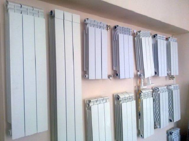 Биметаллические радиаторы различных типоразмеров
