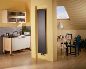 Один из примеров панельного вертикального радиатора отопления
