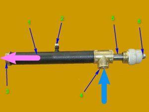 Принципиальная схема устройства однофазного электродного котла.