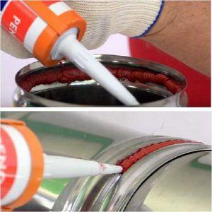Использование термостойкого герметика «PENOSIL High Temp» для герметизации соединения звеньев металлического дымохода