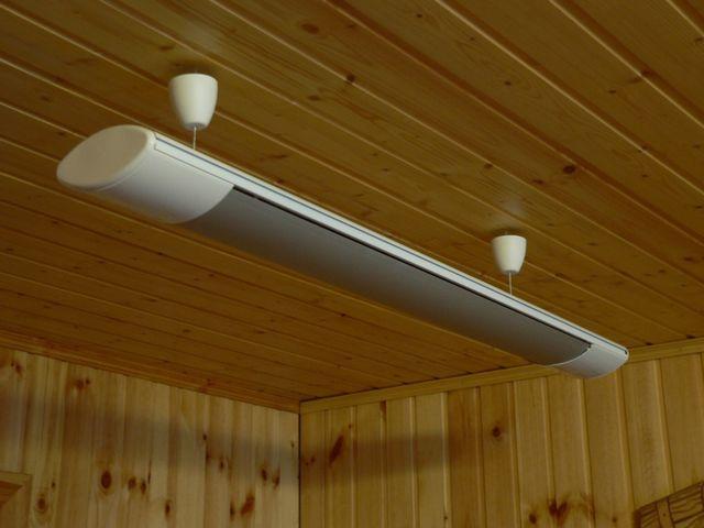 На первый взгляд – обычный светильник. Но на самом деле – это эффективный инфракрасный обогреватель «Пион-керамик»