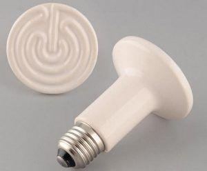 Самые простые инфракрасные керамические излучатели – для вкручивания в обычный патрон под лампочку