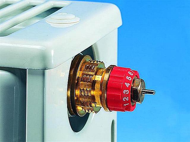 Регулировочное кольцо со шкалой, позволяющее произвести предварительную регулировку термоклапана