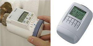 Электронные термостатические головки могут иметь смешанное управление – сочетание кнопочного с механическим, или чисто кнопочное (сенсорное)