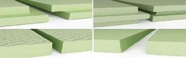 Разные варианты кромок плит «Styrodur»