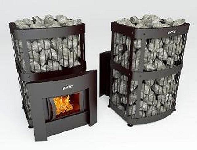 Интересная компоновка каменной укладки в печи «Grill'D Fortuna 280G Window black» — она полностью скрывает металлический корпус прибора