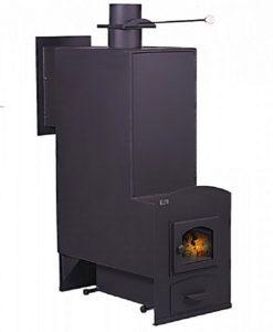 Так выглядит до облицовки печь для бани «Тройка» модель № 06