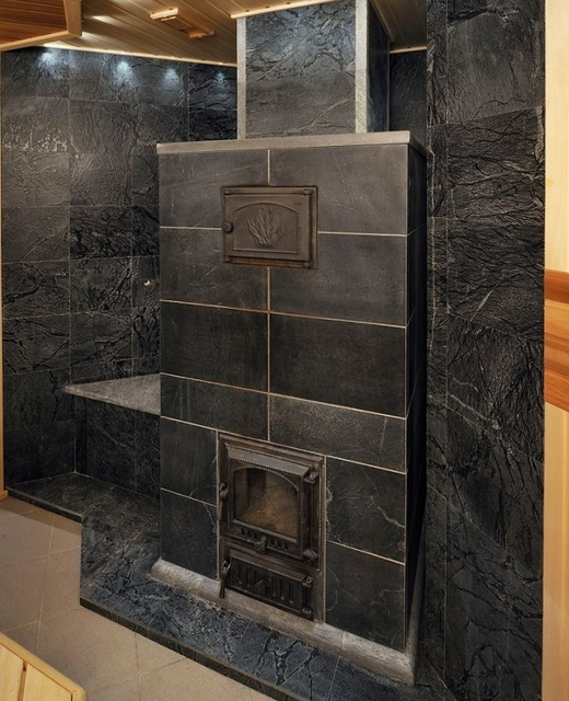 Печь, облицованная керамогранитной плиткой