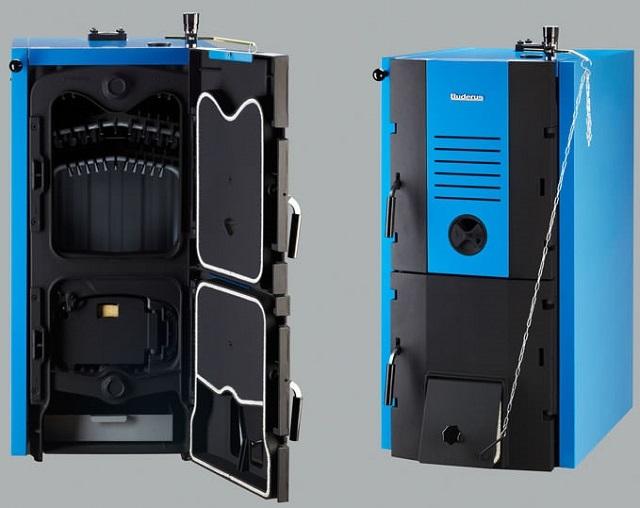 Котел «Buderus Logano G221-20» приемлет практически все типы твердого топлива