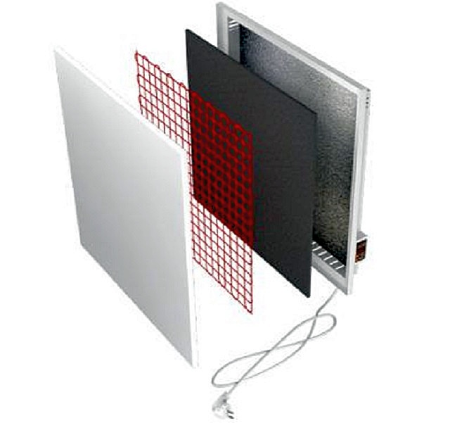 Так устроено большинство керамических обогревательных панелей