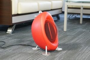 Компактный бытовой тепловентилятор небольшой мощности