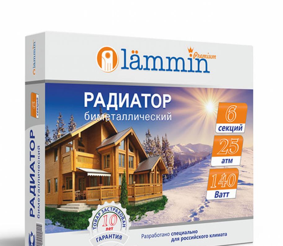 Биметаллический радиатор Lammin Premium BM-500 купить в Минске, цена ...