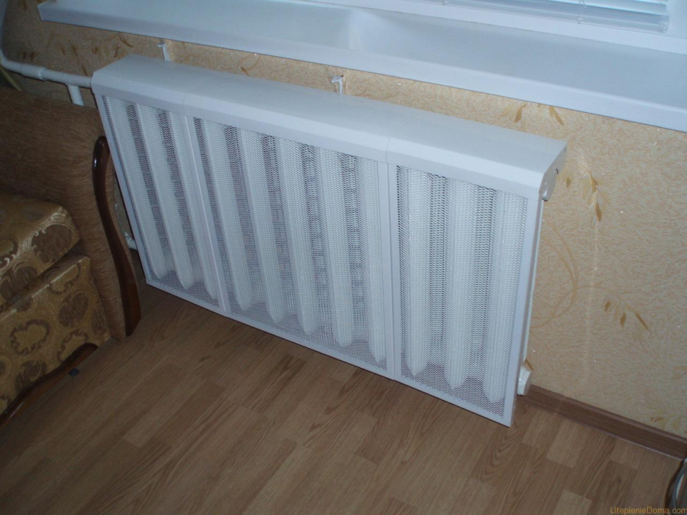 Защитные экраны на радиаторы отопления: их класификация