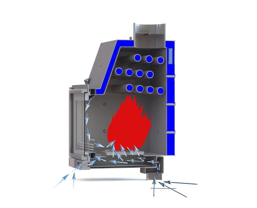 камин с водяным контуром отопления (главный ключ)