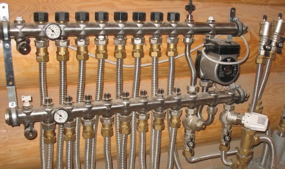 металлическая гофрированная труба для отопления (главный ключ)