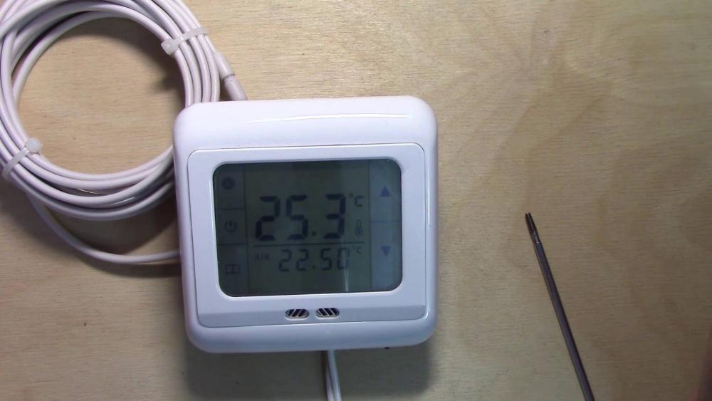 терморегулятор для теплого пола, обзор и настройка - YouTube
