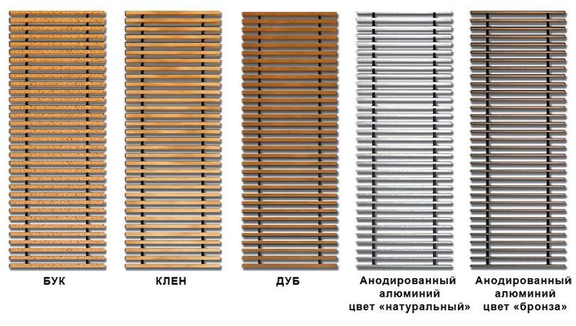 Решетки для внутрипольных конвекторов | Купить декоративную решетку
