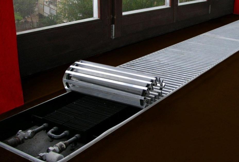 напольные конвекторы отопления водяные встраиваемые в пол