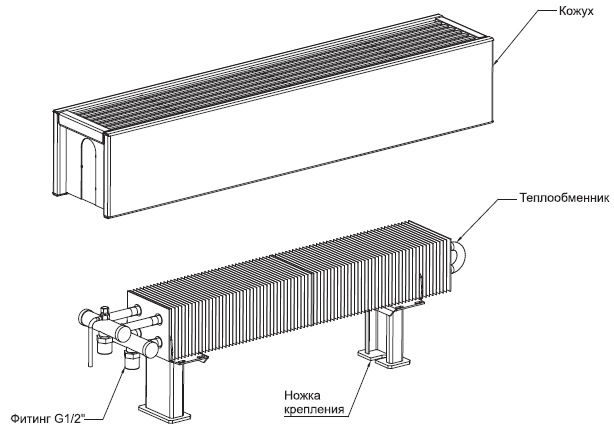 напольные конвекторы отопления кзто