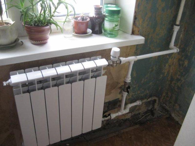 Батареи отопления снизу холодная сверху горячая