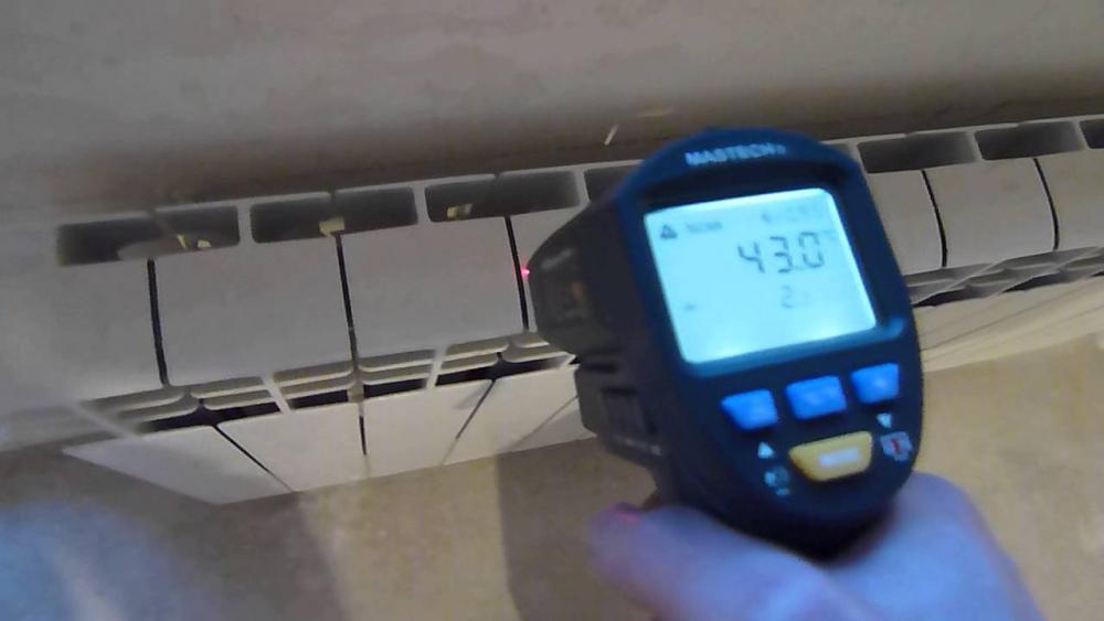 температура на радиаторе отопления
