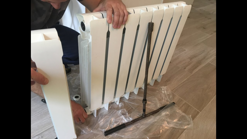 установка биметаллических радиаторов (главный ключ)
