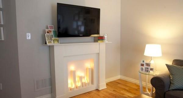 Неплохим вариантов для квартиры станет и фальш-камин