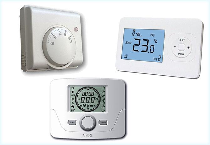 Виды термостатов