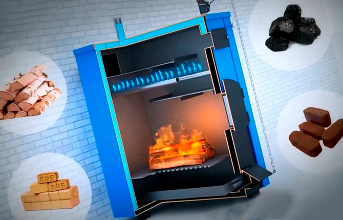 Отопление дома на твердых вида топлива